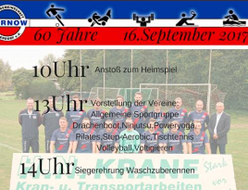 60. Jahre SGW und wir feiern mit Euch! Tickets über events@sg-warnow-papendorf.de !!!